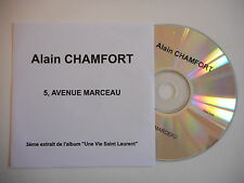 ALAIN CHAMFORT : 5, AVENUE MARCEAU [ CD SINGLE PROMO PORT GRATUIT ]