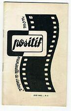 Rarissime Cinéma revue POSITIF N° 2 de Juin 1952 : Vigo Le fleuve Rashomon...