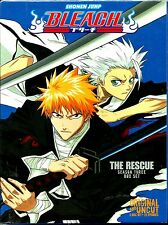 Bleach Uncut Season 3 (The Rescue). 22Ep, 5 Disc Boxset. Brand New In Shrink!
