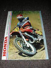 NOS HONDA CR 125 250 450 RB 1981 8 PAGE SALES BROCHURE BOOKLET EVO ELSINORE