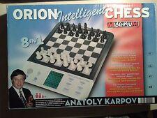 ORION intelligent chess MILLENIUM 2000 scacchi KARPOV 8 giochi in 1 elettronico