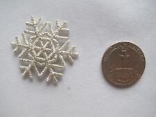 #3020SS  Silver Snowflake,Snow,Embroidery Embroidery Iron On Applique Patch