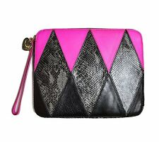 JUICY COUTURE YTRUT226 ARGYLE LEATHER IPAD SLEEVE COVER CASE ZIP AROUND NEW $168