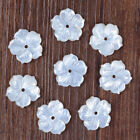 g3823 8pcs 20mm Carved mother of pearl MOP shell flower loose beads