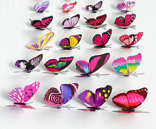 100PCS 3D Artificial Butterfly DIY Home Room Wedding Decorations with Magnet