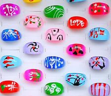 New kids x 20 fashionable mixed lucite shape rings Great for Party bag