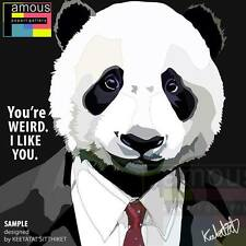 panda in suit canvas quotes wall decals photo painting framed pop art poster