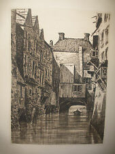 Antique Etching Wilfrid Wilfred William Ball British 1853–1917 pencil signed
