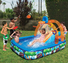 Inflatable Water Slide Outdoor Pool Kids Fun Backyard Play Toys Summer Park New