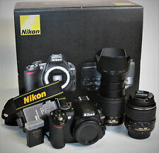 Nikon D3100 14.2MP Digitalkamera  (Kit mit AF-S DX 18-55mm + 55-200mm)