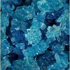 Blue raspberry Rock Candy crystals on Strings 3 lbs