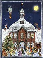 Stadttor im Mondschein Viktorianischer Adventskalender aus alten Oblaten No.797