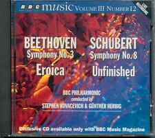 BEETHOVEN: SYMPHONY NO 3 - EROICA /KOVACEVICH + SCHUBERT 8TH - UNFINISHED/HERBIG
