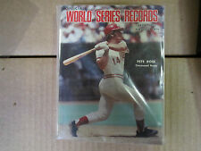 SPORTING NEWS  WORLD SERIES RECORDS 1903-1975 PETE ROSE COVER