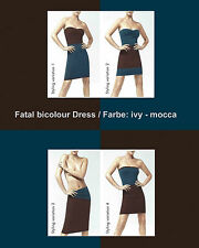 WOLFORD FATAL bicolour DRESS •  M •  ivy / mocca  •  OVP • NP €175