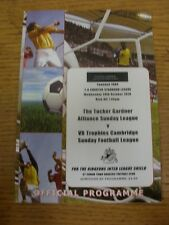 20/10/2010 nel Cambridgeshire ALLEANZA DOMENICA lega V Cambridge DOMENICA League [a S
