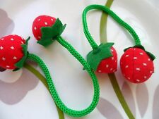 "6pcs Padded Felt Strawberry Fruit Appliques Craft Cardmaking Length 7.5"" Red"