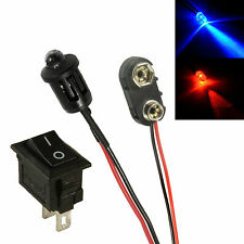 Alternating Red & Blue Car Dummy Fake Alarm LED + PP3 Connector + Switch Kit