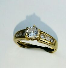 bague or 18 carats diamants