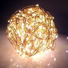 20/30/40 LED Battery Operated Mini LED Copper Wire String Fairy Light Xmas Party