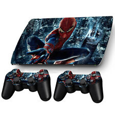 HOT New Sticker Decal For PS3 PlayStation Super Slim 4000 + 2 Controllers Skins