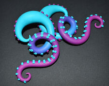Tentacle Earring, Ear Plug 4g 2g 0g 00g n Fake Gauge Earring, Fake Plug, Octopus