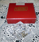 VINTAGE BOXED SET OF 4 HAND CUT IN POLAND VIOLETTA LEAD CRYSTAL NAPKIN HOLDERS