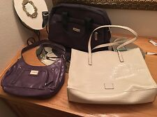 Lot Of 3 Purse Hand Shoulder Bag Handbag Liz Claiborne White Green Purple Black