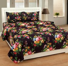 Homefab India 3D Printed Double Bed Sheet with 2 Pillow covers(Dream128)