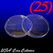 (25) Half Dollar Size Direct Fit Air-Tite Coin Capsules [T30] Genuine - 30.6mm