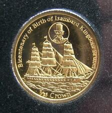 GOLD 2006 FALKLANDS ISLANDS 1/25th CROWN 999-9 GOLD PROOF CAPSULATED COIN