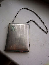 CLARENCE A. Vanderbilt Sterling Silver Dance Purse Coin Clip Compact