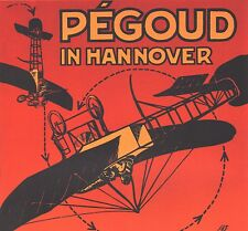 """AVIATION POSTER ART """"PEGOUD IN HANOVER"""" FRENCH FLYING ACE AIR SHOW GERMANY 1913"""