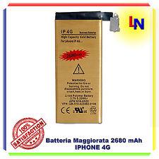 Batteria Potente Maggiorata 2680 mAh Oro per Iphone 4 - Nuova