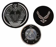 Stargate SG1 Logo, Project Earth & Airforce Wings Embroidered Uniform Patch Set