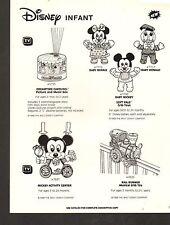 1988 VINTAGE AD SHEET #1361-  MATTEL TOYS - DISNEY INFANT - DREAMTIME CAROUSEL