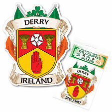 Derry Ireland County Decal Sticker Irish GAA Auto
