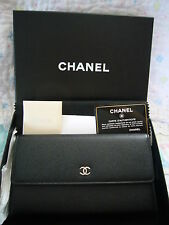 LONG CHANEL  BLACK  LEATHER  WALLET BRAND NEW IN BOX FLAP