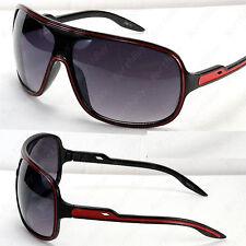 New Mens Womens Wrap Designer Sunglasses Black Red Shades 80s Retro Bug Around
