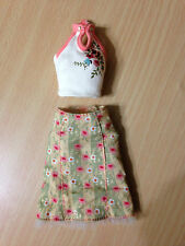 Barbie My Scene Chelsea Get Ready In My Room Vintage Rose Print Halter Top Skirt