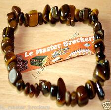 Bracelet Baroque Oeil de Tigre Bijoux pierre naturel Lithothérapie Protection