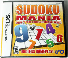 Nintendo DS SUDOKU MANIA Video Game Cartridge COMPLETE DSi LITE 3DS XL Brand New