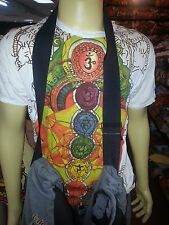 Yoga Men T Shirt short sleeve cotton Mandala Chakra Space Love Peace Om M Sure