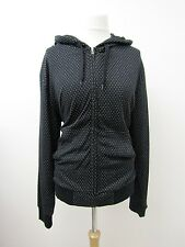 BNWT Womens Black & White Zipped Hoodie by French Connection Size L. UK 14