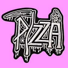Death To False Pizza Punk Rock Music Ghost Grim Ripper Iron On Embroidered Patch