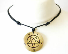 Church of Satan Inverted Pentagram Symbol Necklace Large Pendant Satanism Devil