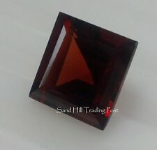 Natural 4mm Loose Square Cut .51ct  Red Garnet AAA