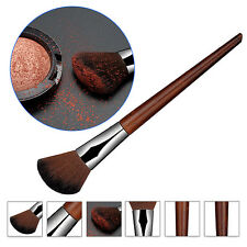New Rosewood Angled Blush Brush Synthetic Face Cheek Contour Powder Makeup Tool