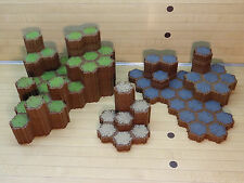 Heroscape Terrain Lot - 338 Hexes - Grass Rock Sand - Expand Your Battlefield
