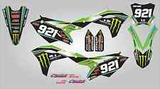 Kawasaki KX250F 2017 Monster energy motocross full custom graphics kit